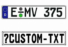 New German Germany EEC European Front License Plate (Custom)