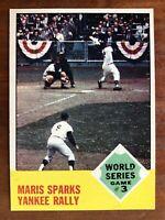 1963 Topps Set Break #144 Roger Maris WS3 NM