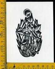 Ex Libris Originale Alexandro Radulescu c 110