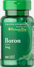 BORON 3MG 100 TABLETS (820) PURITANS PRIDE