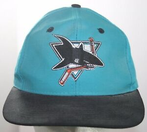 Vintage 1990s San Jose Sharks Hat - NHL Hockey The Game Fitted Cap Size 7 1/8