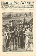 NY, Horse Show, Madison Square Garden, Champion, Vintage 1896 Antique Art Print