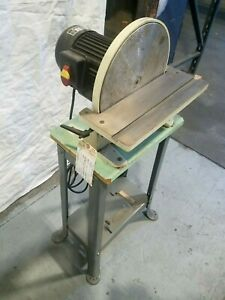 "12"" Industrial Disc Sander 1 HP 110V Wood or Metal Sanding"