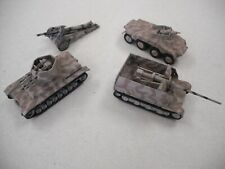 4 1960s HAND PAINTED H-O SCALE GERMAN TANKS & ARMORED VEHICLES!