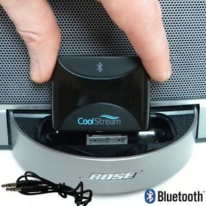 Bluetooth 30 Pin iPhone iPod Adapter CoolStream Duo for Portable Bose Sound Dock