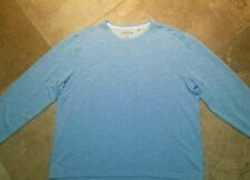 Orvis Crew Neck Pullover Lightweight Shirt Rayon Blend Blue XL