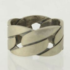 NEW Men's Gucci Ring - Sterling Silver Band Italian Designer Size 11.75 Matte