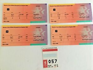 1984 Los Angeles Olympic Games Tickets Albertville 1992