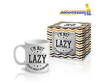 "Coffee Tea Mug ""I'M NOT LAZY"" Funny Design Novelty Christmas Gift - 300ml"