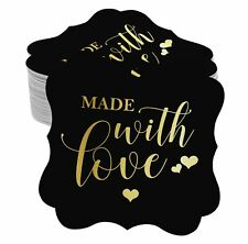 Real Foil Paper Hang Tags Made With Love Wedding Favor Tags-SH6_6BG