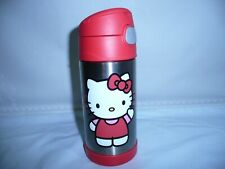 Hello Kitty Thermos  Stainless Steel Bottle.12 oz. RED