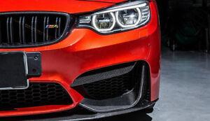Carbon Fiber Front Bumper Upper Splitters Canards for BMW F80 M3 M4 F82 F83