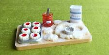 Dolls House Miniatures 1:12 scale jam tarts in the making - handmade