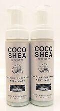 2 BATH & BODY WORKS COCO SHEA CUCUMBER FOAMING CUCUMBER BODY WASH 6oz NEW!