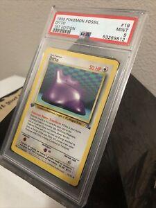 PSA 9 - Ditto Non-Holo - 1st Edition - Fossil 18/62 1999 Pokemon - Mint