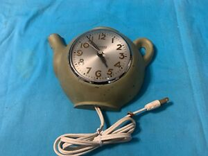 Vintage 50's SESSIONS ELECTRIC Teapot Kettle Kitchen Wall Clock (NON WORKING)