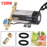 150W Stainless Steel Automatic Water Pressure Booster Pump Shower Home Garden