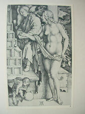 Albrecht DURER VINTAGE incisione su rame la tentazione del tendicatena-Signorina NUDA