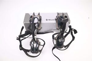 NEW Black Diamond Contact Strap Crampons MILITARY Model All Black - One Size