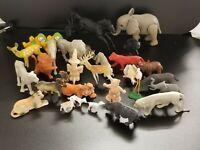 """Vintage Miniature Toys - 30 Animal Figurines Lot - 1"""" - 3"""" height"""