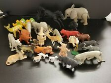 Vintage Miniature Toys - 30 Animal Figurines Lot - 1