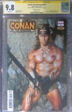 Conan #1 photo cover__CGC 9.8 SS__Signed by Arnold Schwarzenegger