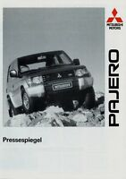 Mitsubishi Pajero Pressespiegel Prospekt 1991 Autoprospekt brochure risalah Auto