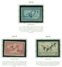 US DUCK STAMP COLLECTION - #RW1-73, Complete to 2006, NH in album Scott $5,779