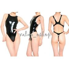 Women's One-Piece Metallic Bikini Swimsuit Yoga Leotard Thong Bodysuit Dancewear