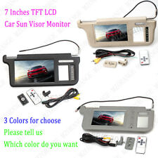 "Right Driver Side 7"" TFT LCD Car Sun Visor Monitor DVD Display Video W/ Mirror"