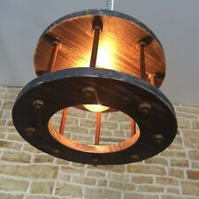 INDUSTRIAL LOFT STYLE METAL CAGE LIGHT RUSTIC RUSTY CEILING LIGHT PENDANT
