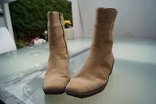 CAPRICE on air Damen Winter Schuhe Boots Stiefel gefüttert Gr.42 Leder beige #79