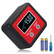 Magnetic Level Box Gauge Digital Protractor Inclinometer Angle Finder Lcd 0 360