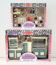 New ListingMelissa And Doug Dollhouse Furniture And Accessories Kitchen Set 32 Pieces