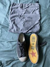 Jhon Varvatos Converse All Star Leather Sneakers Size US 10 Zippers. Barely Used
