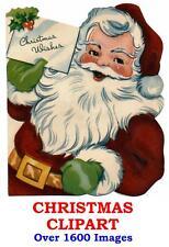 Christmas Clipart CD 1600+ Xmas Images Designs Santa Snowmen Victorian Nativity