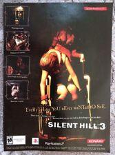 Silent Hill 3 Poster Ad Print Konami Playstation 2