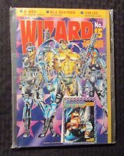 1993 WIZARD Comics Magazine #15 SEALED w/ Promo Card - Wetworks Cover