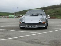 Silver 1971 LHD Porsche 911T 2.2 Coupe with 1973 Carrera RS Livery T E S Early