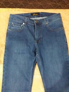 Brioni Blue Classic Men's Jeans  Size 33  Made in Italy New