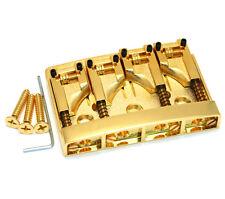 Schaller Gold 4-string Roller Saddle Adjustable Bass Bridge BB-0318-002