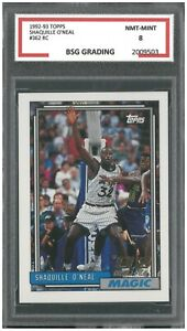 SHAQUILLE O'NEAL 1992-93 TOPPS #362 ROOKIE ~ BSG 8