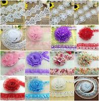 New Pleated Trim Mesh Lace Sewing Sequin Gathered Craft A lot of Style choices