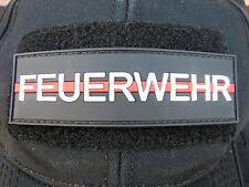 Klettpatch Rubberpatch ca. 10x3cm thin red line Deutschland Feuerwehr