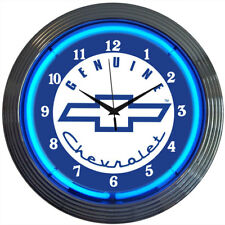 "Gm Genuine Chevy Neon Clock 15""x15"""