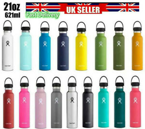 Hydro Flask Wide Mouth Insulated 304Stainless Steel Water Bottle Straw Lid Gift