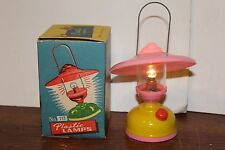 1960'S  BATTERY OPERATED  CHILD's TOY PLASTIC LAMP   in ORIGINAL BOX works!
