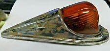 Vintage Dietz 80 fender lamp truck marker light amber glass