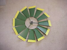 """REPLACEMENT 24"""" FAN ONLY (Green/Yellow Tips) 8 ft Steel Windmills 24- 48-18D1-G"""