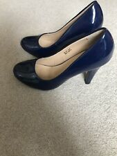 Navy Patent Court Shoes Size 6